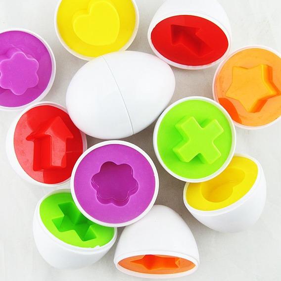 Joguinho Enigma Dos Ovos Infantil Bebê 6 Pçs Pronta Entrega