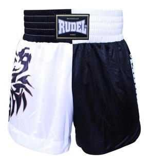 Short - Calção Muay Thai Rudel Preto Branco