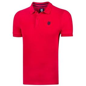 Playera Polo Casual Kswiss Hombres Logo Pol Rojo Dtt 62688