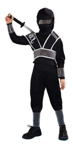 Negro Disfraz Ninja Para Traje De Niños