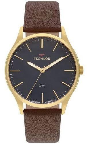 Relógio Technos Steel Masculino Dourado 2035mqr/2a