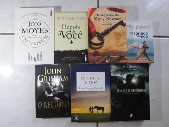 Lote Com 7 Livros Diversos Jojo Zíbia Sparks Dan Brown Grish