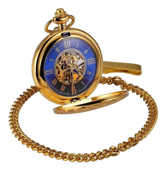 Algarismos Romanos Relógio De Bolso Mecânico Mulheres Homens