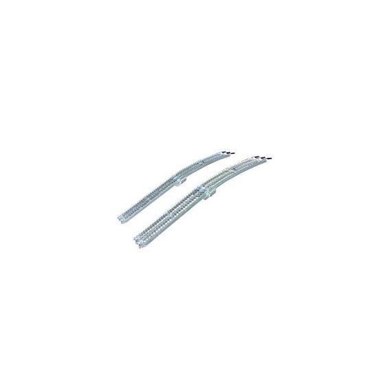 Yutrax Tx107 Silver 89-inch Rampas Plegables De Aluminio Del