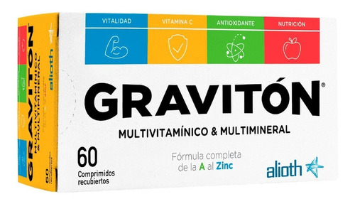 Gravitón Multivitamínico Multimineral Fórmula Completa 60u