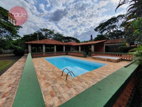 Chácara Com 5 Dormitórios À Venda, 5300 M² Por R$ 1.000.000,00 - Recreio Anhangüera - Ribeirão Preto/sp - Ch0105