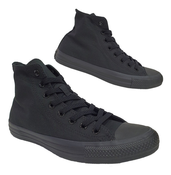 Tênis Converse All Star Original Cano Médio All Black