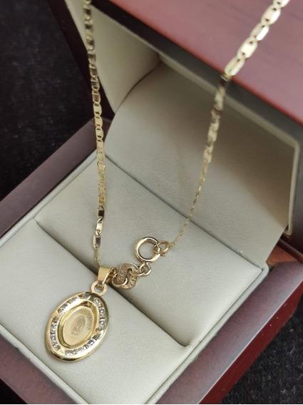 Cadena Y Medalla Virgen De Guadalupe Oro 10k