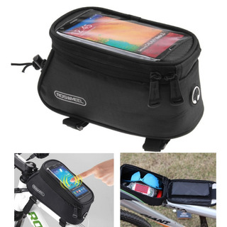 Estuche Porta Celular Bicicleta Negro