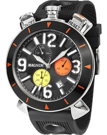 Relógio Magnum Masculino Cronógrafo Ma33344t Aço