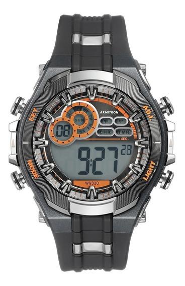 Reloj Multifuncional Digital Gris Y Negro Hombre 564218256