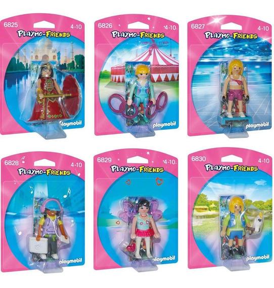 Playmobil Playmo Friends Coleção Feminina Com 6 Personagens