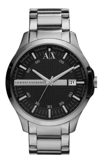 Relógio Masculino Armani Exchange Ax2103/1pn 46mm Aço Prata