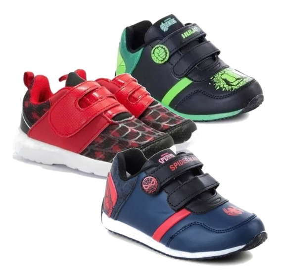 Zapatillas Marvel Baby Casual Spiderman Hulk Mmk Cab1801