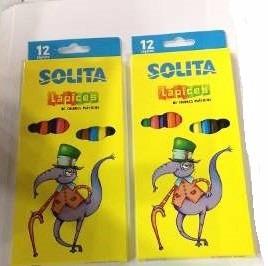Creyones Solita De 12 Colores (3 Cajitas)