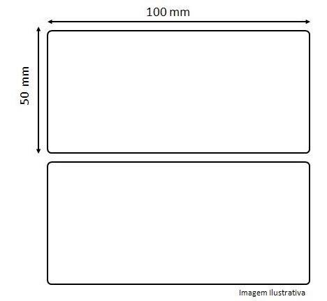 Etiqueta Adesiva 100x50 (mm) 10x5(cm) - 500 Unid