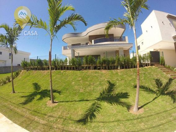 Casa Boulevard Lagoa Com 4 Doaormitórios, Fundo Para Lagoa 455 M² Por R$ 1.650.000 - Boulevard Lagoa - Serra/es - Ca0044