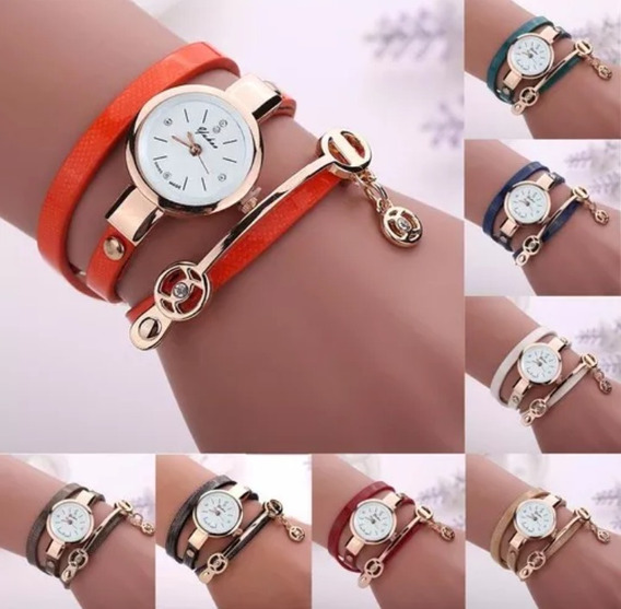 Relógio Feminino Retro Vintage.100% Pulseira Couro