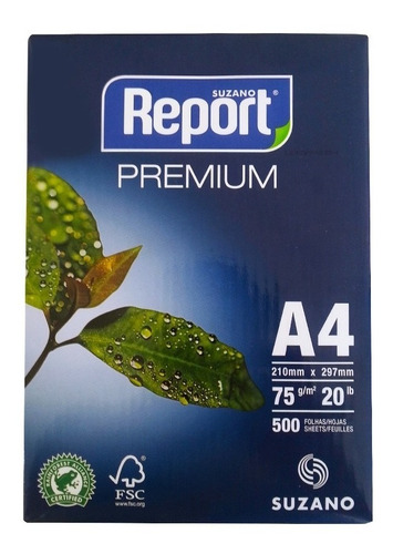 Promoção Folha De Papel Report Sulfite A4 Pacote 500 Folhas