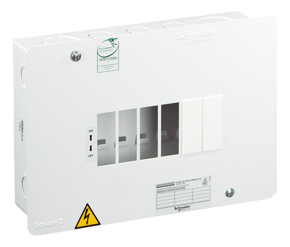 Tablero De Distribución Vtq Monofásico 6 Circuitos Homeline