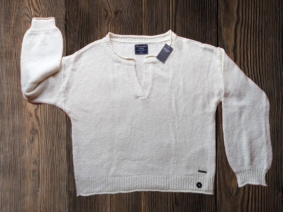 Sueter Beige Cerrado Mujer Abercrombie And Fitch