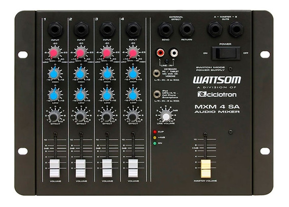Mesa De Som 4 Canais Wattsom / Ciclotron . Mxm 4 Sa