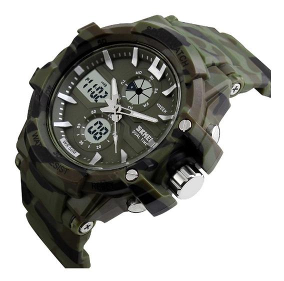 Relógio Masculino Skmei Analógico Digital 0990l Verde