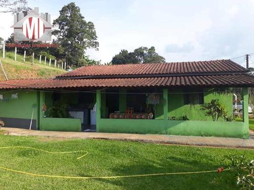 Chácara Com 02 Dormitórios, Bem Cuidada, Terreno Plano, Bairro Povoado À Venda, 1000 M² Por R$ 220.000 - Zona Rural - Pedra Bela/sp - Ch0082