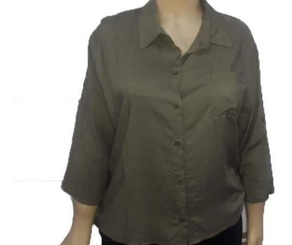 Camisas De Fibrana Mujer Manga Larga. Talles M - Xxl