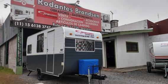 Casa Rodante Brandsen Mod:4,50 Mts C/ A/a Nueva 0km 2019