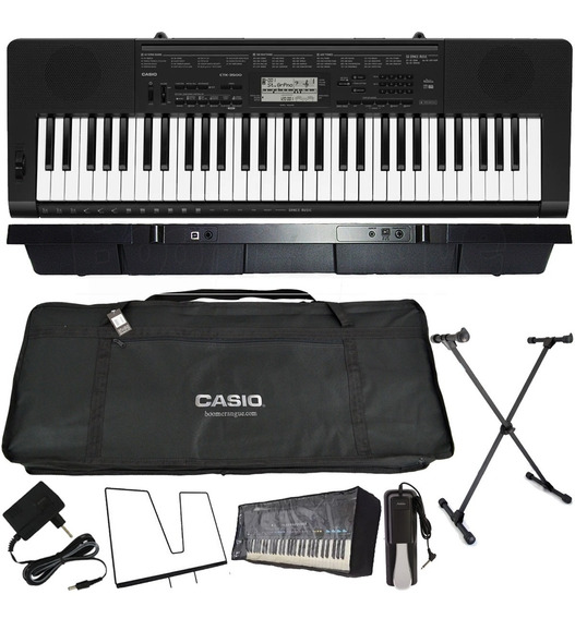 Kit Teclado Musical 61 Teclas Ctk-3500 Casio Pedal Sustain