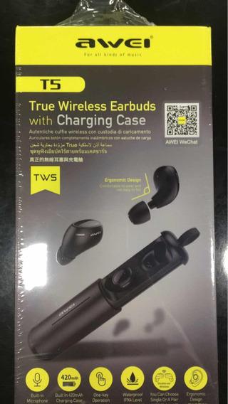 Fone De Ouvido Bluetooth Awei T5 Tws Resistente À Água
