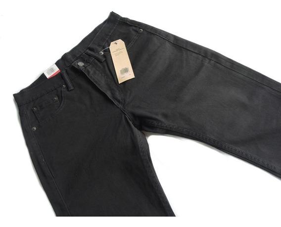 Calca Levis 505 Masculina Tradicional Black Original