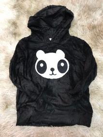 Blusa De Frio Infantil Pelinho Panda Feminina Linda Importar