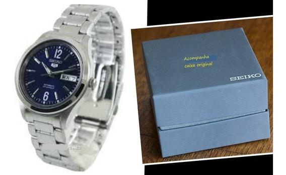 Relógio Seiko 5 Militar / Automático Pulseira Aço Snk793-k1