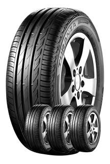 Kit 4u 205/55 R17 Turanza T001 Bridgestone Envío Válvulas $0