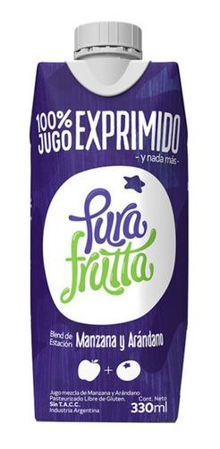 Imagen 1 de 5 de Pura Frutta Jugo 100% Exprimido Arandanos Y Manzana 330 Ml