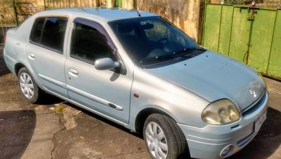 Renault Clio Sedan Rt 1.0, Ano 2002 Top De Linha