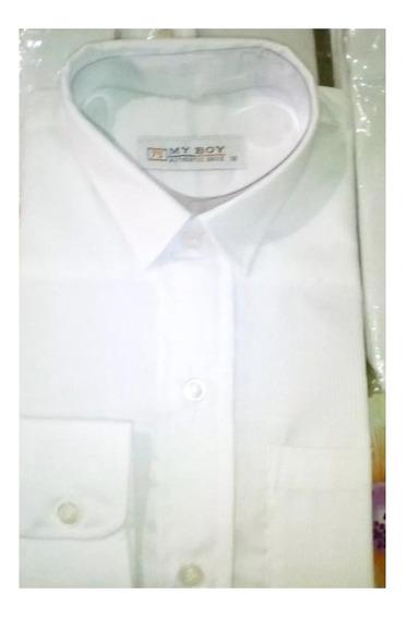 Camisas Blancas Manga Larga Para Niños