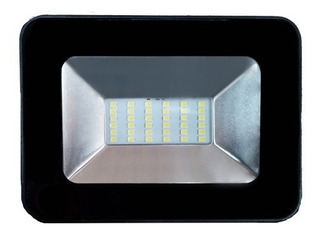 Mini Reflector Led 30w Luz De Dia Negro Geopower Cc