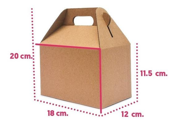 10 Caja Lonchera Boxlunch Postres Grande Carton Micro Kraft