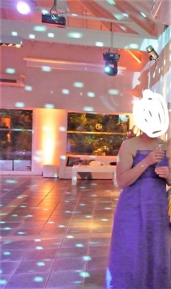 Vestido De Fiesta Gasa-tafetan Le Muguet Talle 42 (l)