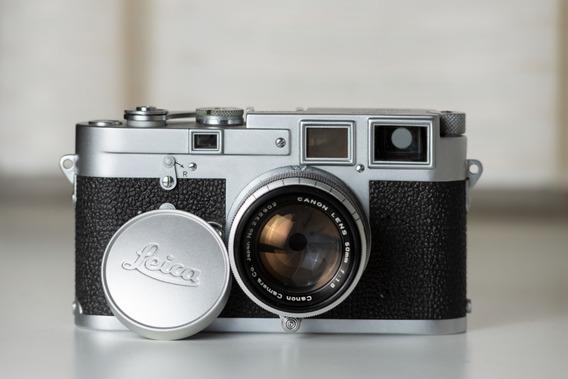 Leica M3 1954 Raridade Sn 70xxxx + Lente Canon Ltm 50mm F1.8