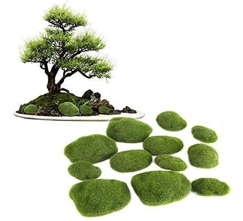 Rocas Dewin Artificial Musgo  Bonsai Moss Stones, Decorativ