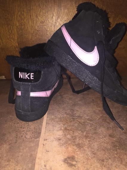 Zapatillas Botitas Nike Originales Importadas Con Piel Negra