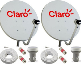 2 Antenas Cabo Coaxial Lnb Simpl. Conectores Super Promoção