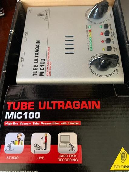 Pré Amplificador Mic100 Tube Ultragain Behringer Novo