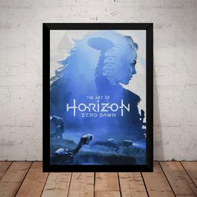 Quadro Horizon Zero Dawn Game Arte Poster Com Moldura