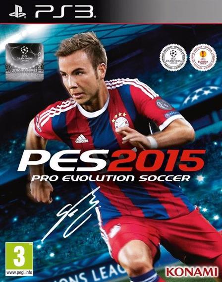 Jogo Ps3 Pro Evolution Soccer 2015 Em Português Br