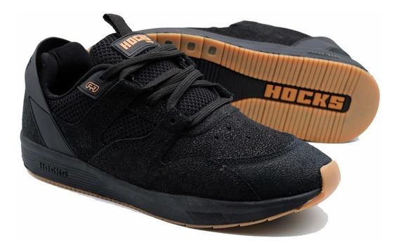 Tênis Hocks Skate Solo Marcelo Formiga Preto Black Couro Camurça Feminino E Masculino Original Promoção Envio Imediato